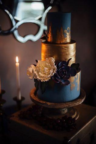 50 Gold Wedding Cakes Ideas 50