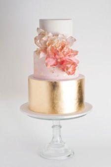 50 Gold Wedding Cakes Ideas 55