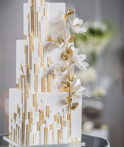 50 Gold Wedding Cakes Ideas 7