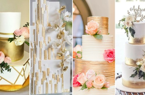 50 Gold Wedding Cakes Ideas