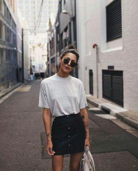 50 How to Wear an Oversized T Shirt Ideas 50