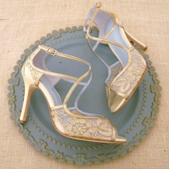 50 Lace Heels Bridal Shoes Ideas 1