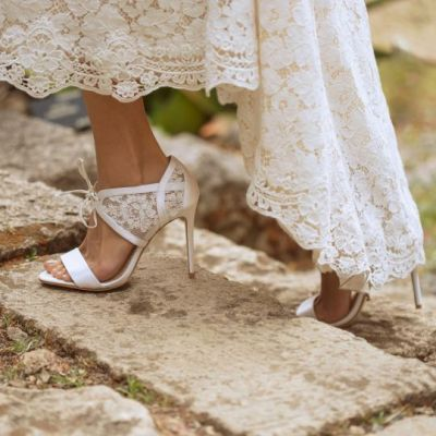 50 Lace Heels Bridal Shoes Ideas 15