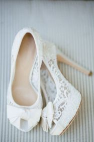 50 Lace Heels Bridal Shoes Ideas 2