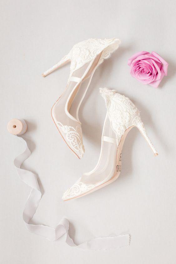 50 Lace Heels Bridal Shoes Ideas 26