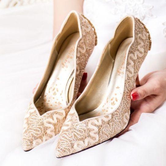 50 Lace Heels Bridal Shoes Ideas 27