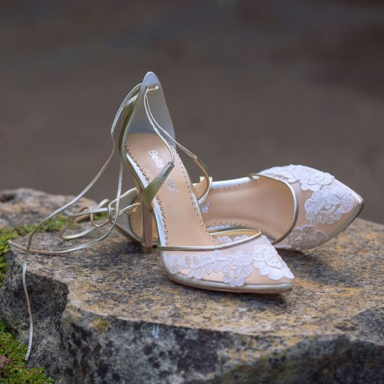 50 Lace Heels Bridal Shoes Ideas 29