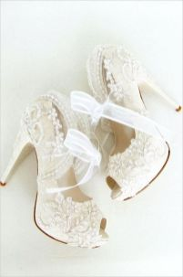 50 Lace Heels Bridal Shoes Ideas 4