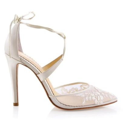 50 Lace Heels Bridal Shoes Ideas 44