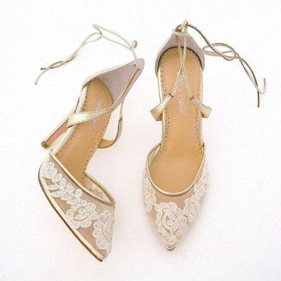 50 Lace Heels Bridal Shoes Ideas 8
