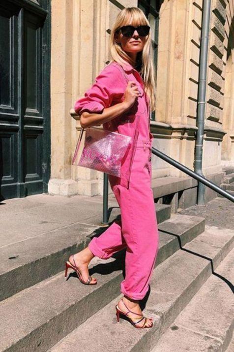 50 Möglichkeiten rosafarbene Outfits Ideen zu tragen 23