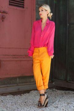 50 Möglichkeiten rosafarbene Outfits Ideen zu tragen 46