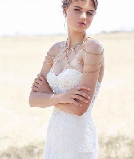 50 Shoulder Necklaces for Brides Ideas 1