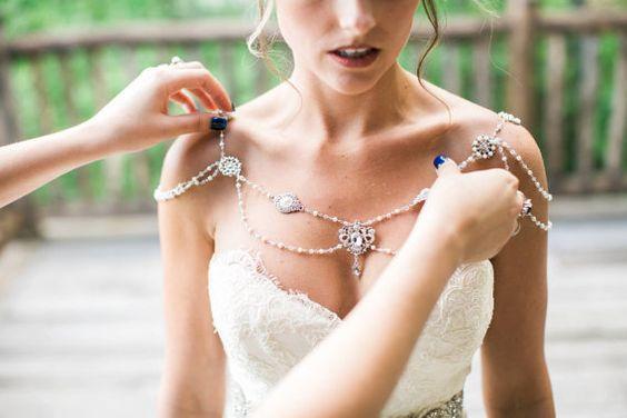 50 Shoulder Necklaces for Brides Ideas 2