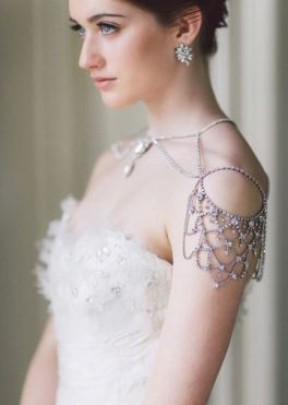 50 Shoulder Necklaces for Brides Ideas 4