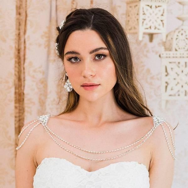 50 Shoulder Necklaces for Brides Ideas 8