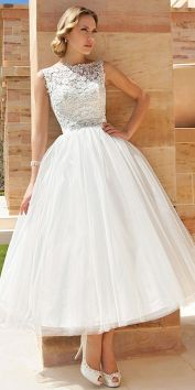 50 Tea Length Dresses For Brides Ideas 15 3