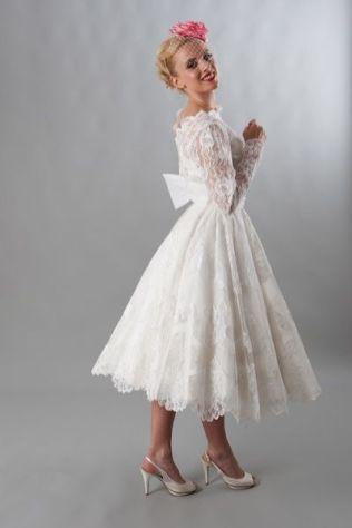 50 Tea Length Dresses For Brides Ideas 19 3