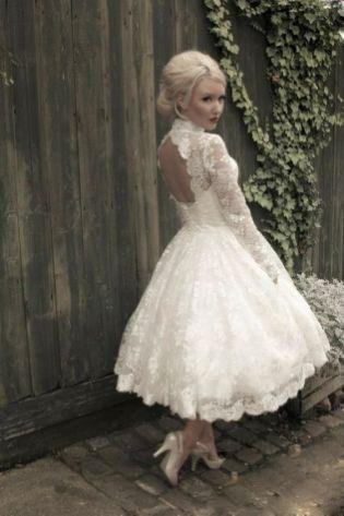 50 Tea Length Dresses For Brides Ideas 20 3