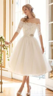 50 Tea Length Dresses For Brides Ideas 24 3