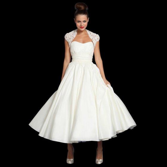 50 Tea Length Dresses For Brides Ideas 26 3
