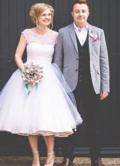 50 Tea Length Dresses For Brides Ideas 27 3