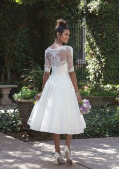 50 Tea Length Dresses For Brides Ideas 29 3