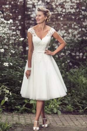 50 Tea Length Dresses For Brides Ideas 32 3