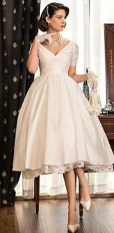 50 Tea Length Dresses For Brides Ideas 37 3