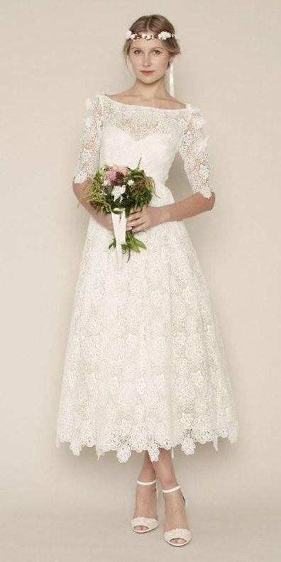 50 Tea Length Dresses For Brides Ideas 38 3