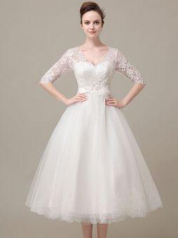 50 Tea Length Dresses For Brides Ideas 4 3