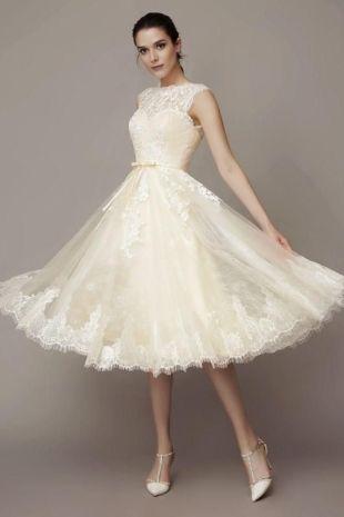 50 Tea Length Dresses For Brides Ideas 45 3