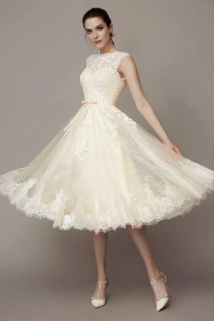 50 Tea Length Dresses For Brides Ideas 45 3