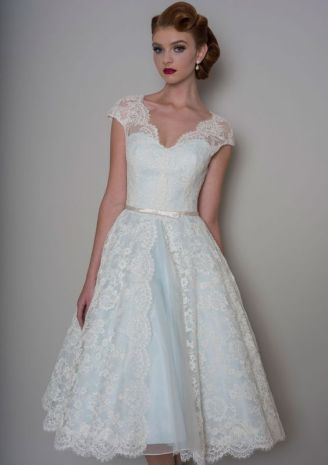 50 Tea Length Dresses For Brides Ideas 46 3