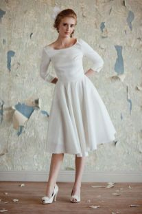 50 Tea Length Dresses For Brides Ideas 47 3