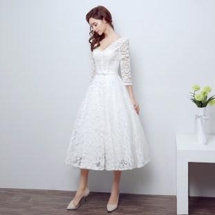 50 Tea Length Dresses For Brides Ideas 49 3