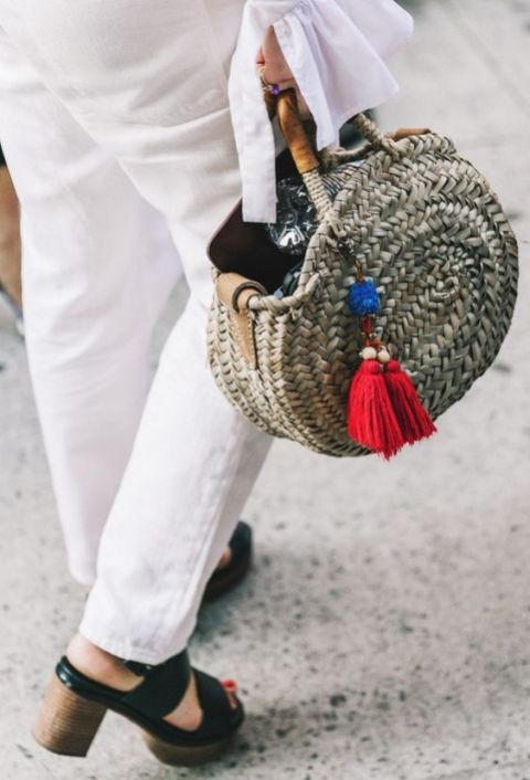 50 Woven and Bamboo Bags for Summer Ideas 26