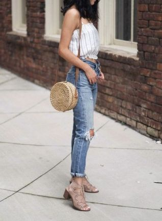 50 Woven and Bamboo Bags for Summer Ideas 45