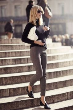 50 stilvolle Look Loafer Schuhe Street Styles Ideen 14