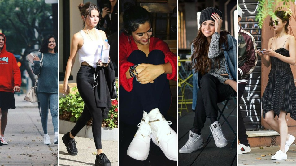 70 Ways Selena Gomes Styles with Sneakers Ideas