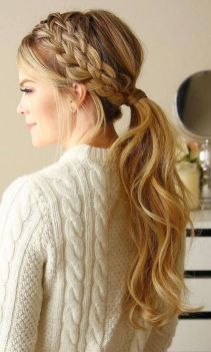 30 Simple Long Hairstyles for Party Look Ideas 12