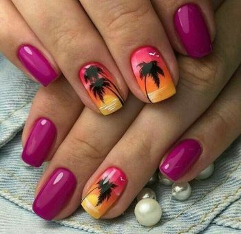 40 Beach Themed Nail Art for Summer Ideas 12