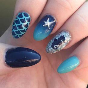 40 Beach Themed Nail Art for Summer Ideas 13