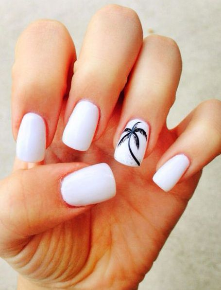 40 Beach Themed Nail Art for Summer Ideas 2