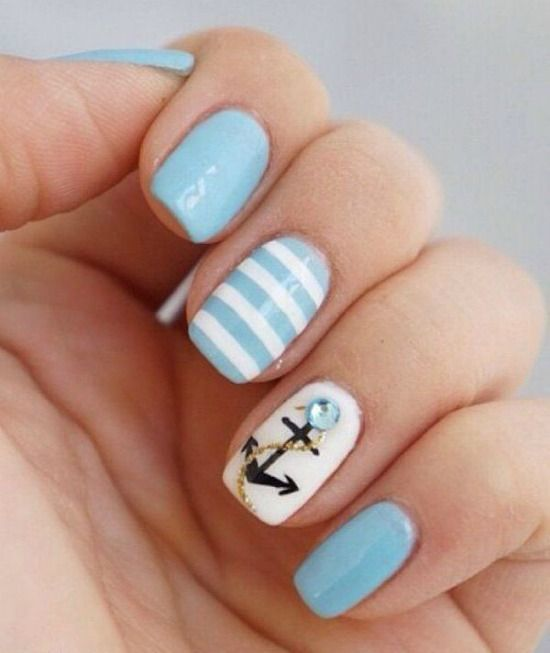 40 Beach Themed Nail Art for Summer Ideas 21