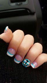 40 Beach Themed Nail Art for Summer Ideas 22