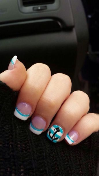40 Beach Themed Nail Art for Summer Ideas 22
