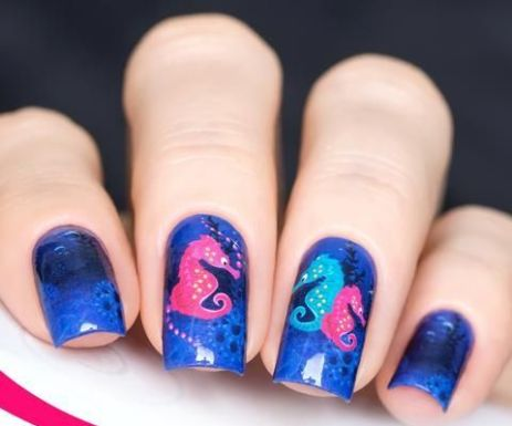 40 Beach Themed Nail Art for Summer Ideas 32