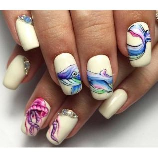 40 Beach Themed Nail Art for Summer Ideas 33