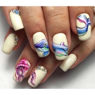 40 Beach Themed Nail Art for Summer Ideas 33
